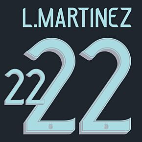 L.Martinez 22 (Official Printing) - 20-21 Argentina Away
