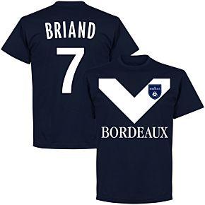 Bordeaux Briand 7 Team Tee - Navy