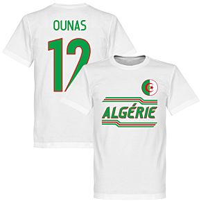 Algeria Ounas 12 Team T-Shirt - White
