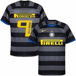 20-21 Inter Milan 3rd Shirt + Ronaldo 9 (Racing Style)