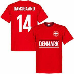 Denmark Damsgaard 14 Team T-shirt - Red