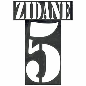 Zidane 5 - 02-03 Real Madrid Away Flex Name and Number Transfer