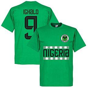 Nigeria Pattern Ighalo 9 Tee - Green