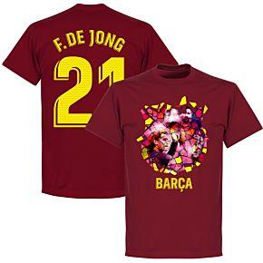 Barcelona F. De Jong 21 Gaudi Photo Tee - Chilli