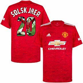 20-21 Man Utd Home Shirt + Solskjaer 20 (Gallery Style)
