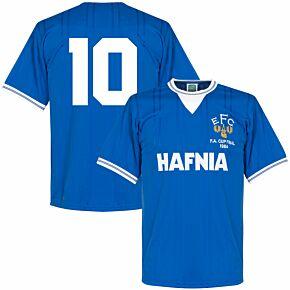 1984 Everton Home FA Cup Final Retro Shirt + No. 10