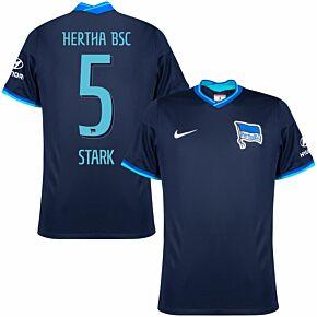 21-22 BSC Hertha Berlin Away Shirt + Stark 5 (Official Printing)