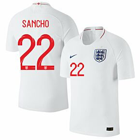 England Home Sancho 22 Jersey 2018 / 2019 (Official Printing)