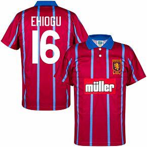 93-94 Aston Villa Home Retro Shirt + Ehiogu 16 (Retro Flock Printing)