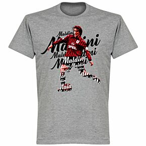 Maldini Script T-shirt - Grey Marl