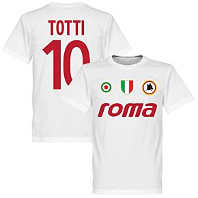 Roma Vintage Totti 10 Team Tee - White