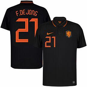 20-21 Holland Away Shirt - Kids F. De Jong 21 (Fan Style Printing)