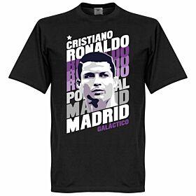 Ronaldo Madrid Portrait Tee - Black
