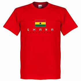 Ghana Black Stars Flag Tee - Red