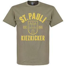St Pauli Established Tee - Khaki