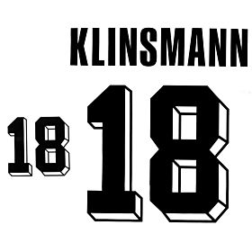 Klinsmann 18 - 1992 Germany Home Authentic Flock Printing