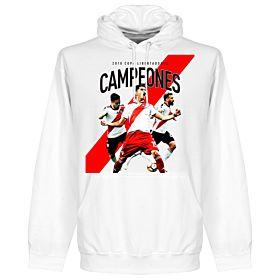 River Plate 2018 Copa Libertadores Campeones Hoodie - White