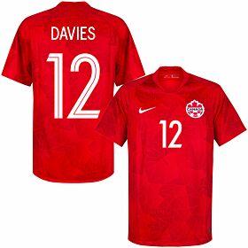 20-21 Canada Home Shirt + Davies 12 (Fan Style Printing)