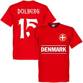 Denmark Dolberg 15 Team Tee - Red