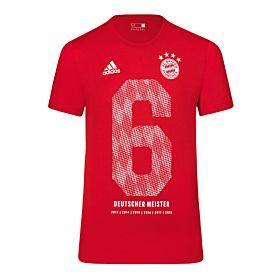 2018 adidas Bayern Munich Bundesliga Winners Tee
