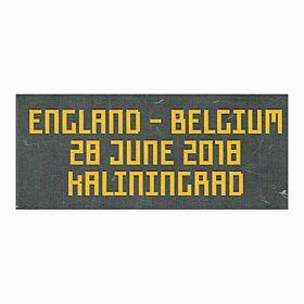 England Belgium FIFA World Cup 2018 Matchday Transfer 28 June 2018 (Belgium Home Jersey)