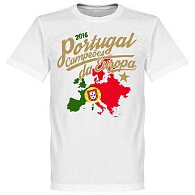 Portugal Campeóes Da Europa 2016 Tee - White