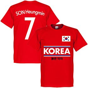Korea Son 7 Team Tee - Red