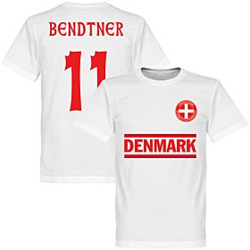 Denmark Bendtner 11 Team Tee - White