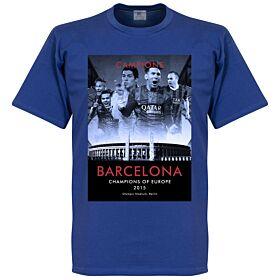 2015 Barcelona European Champions Tee - Royal