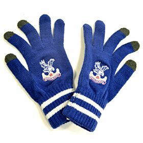 Crystal Palace Kniited Gloves - Royal (Touchscreen Compatible)