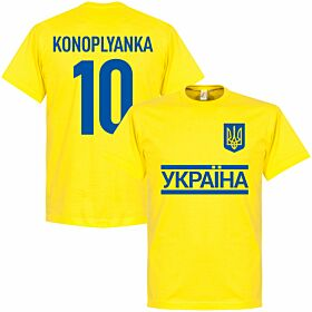 Ukraine Team Konoplyanka Tee - Yellow