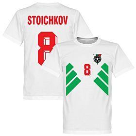 Bulgaria Stoichkov 8 Retro Tee - White