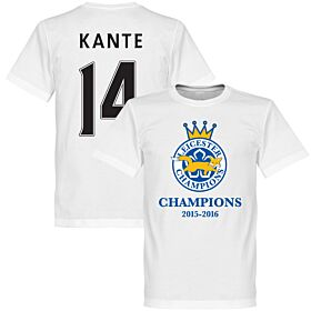 Leicester Champions Kante Tee - White