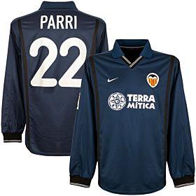 00-01 Valencia Away L/S Jersey + Parri No. 22 - Players