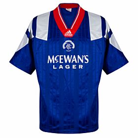 adidas Rangers 1992-1994Home Shirt - USED Condition(Great) - Size L
