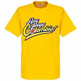 Hoy Juega Colombia Tee - Yellow
