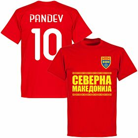 North Macedonia Pandev 10 Team T-shirt - Red