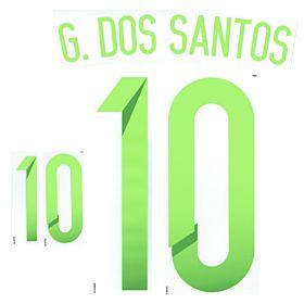 G.Dos Santos 10 Copa America 2015 Mexico Away Official Name & No. Set