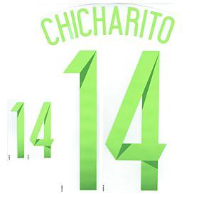 Chicharito 14 Copa America 2015 Mexico Away Official Name & No. Set