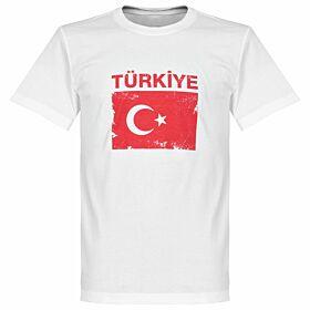 Turkey Flag Tee - White