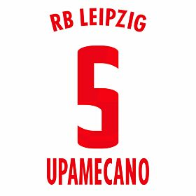 Upamecano 5 (Official Printing) - 20-21 RB Leipzig Home