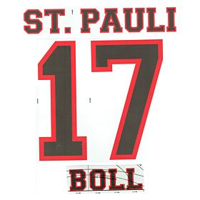 Boll 17 - 12-13 St Pauli Away Official Name & Number