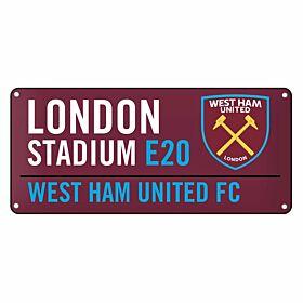 West Ham United Color Street Sign (40cm x 18cm)