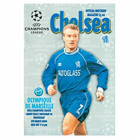 Chelsea vs Olympique Marseille C/L Group 2 Match at Stamford Bridge Program - March 8, 2000