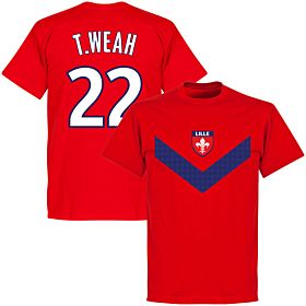 Lille T. Weah 22 Team T-shirt - Red