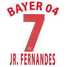 Jr. Fernandes 7 - 12-13 Bayer Leverkusen Away Official Name & Number