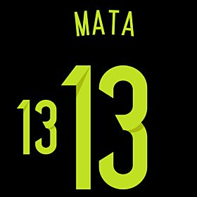 Mata 13 - Spain Away Official Name & Number 2014 / 2015