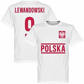 Poland Lewandowski Team Tee - White