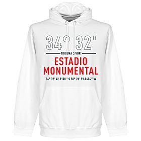River Plate Home Coordinates Hoodie - White