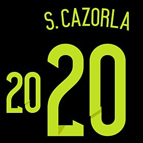 S. Cazorla 20 - Spain Away Official Name & Number 2014 / 2015
